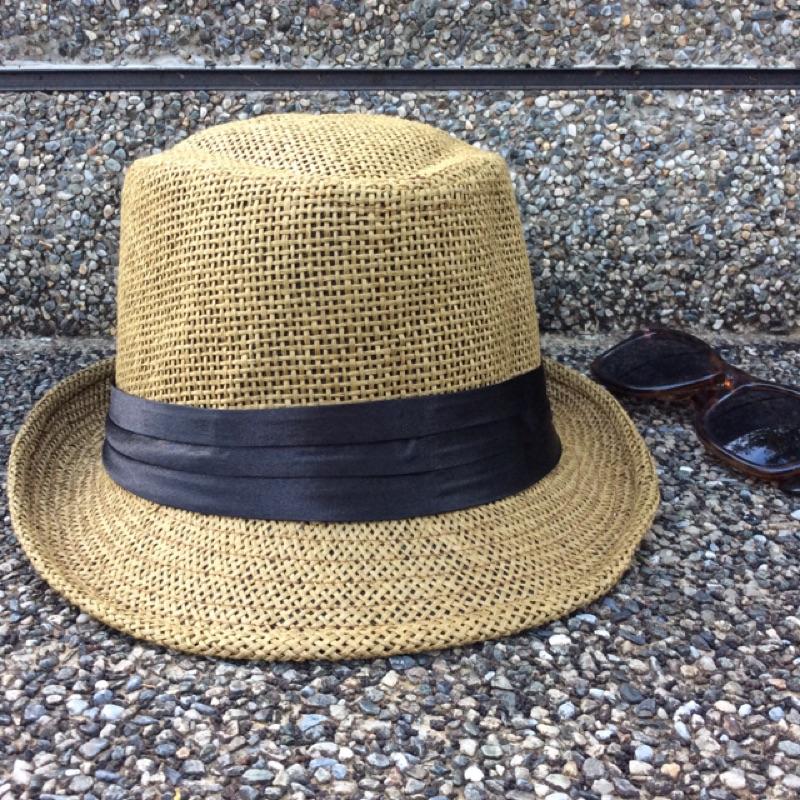 紳士咖黑邊爵士禮帽帽圍57cm 生產地:中國
