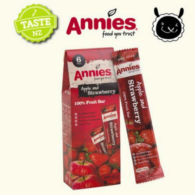 ~壽滿趣紐西蘭 ~Annies 全天然水果條草莓15gm6 片裝特惠10 2