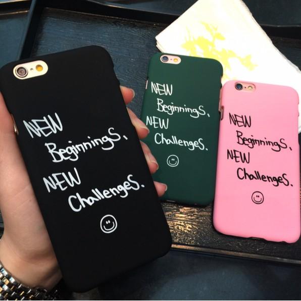 ▊ ▊英文字母硬殼磨砂iPhone 簡約手機殼4 7 吋5 5 蘋果6s 6 plus 潮