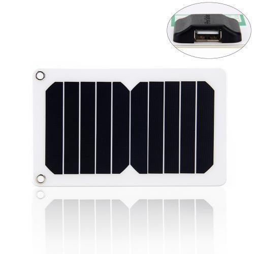 5 3W 0 96 A 戶外太陽能充電板可擕式手機平板電腦充 戶外移動電源(白色)