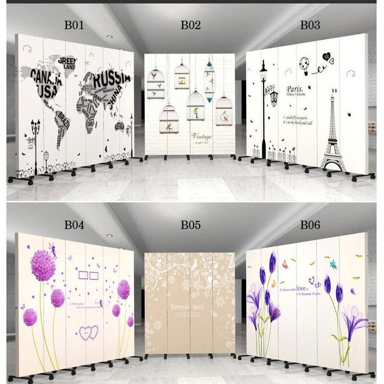 定制歐式屏風隔斷牆 簡約 雙面移動折疊客廳玄關折屏中式定制