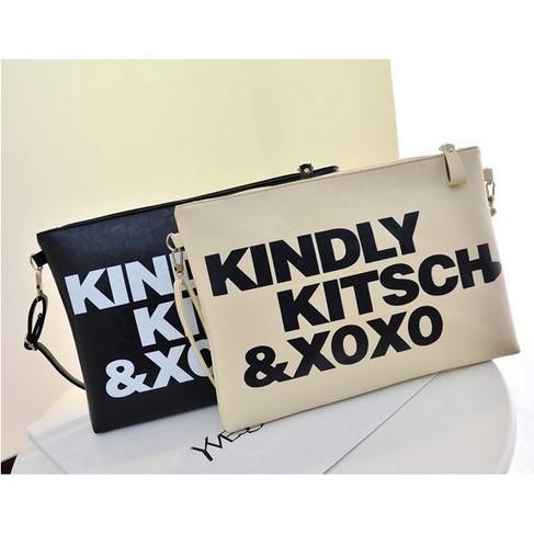 6 色 字母塗鴉手拿包百搭斜背包KINDLY KITSCH XOXO yizi EXO ~