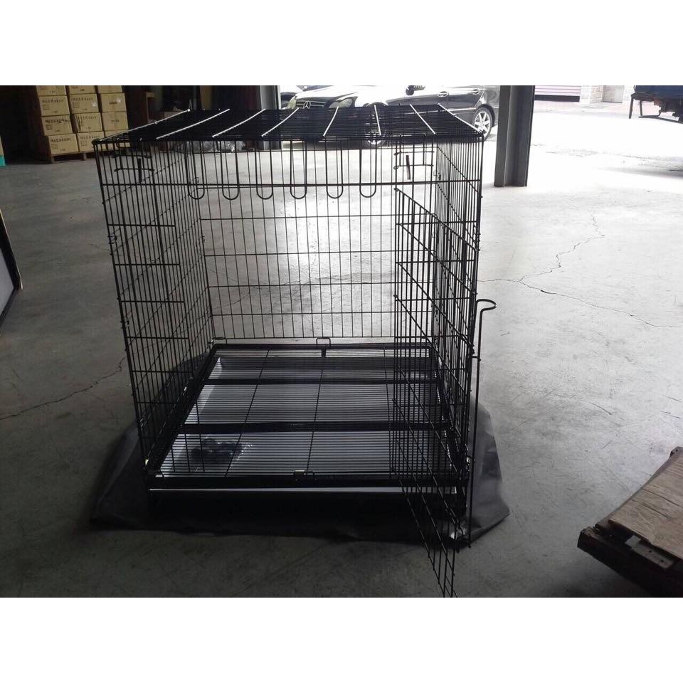 靜電烤漆折疊狼犬籠