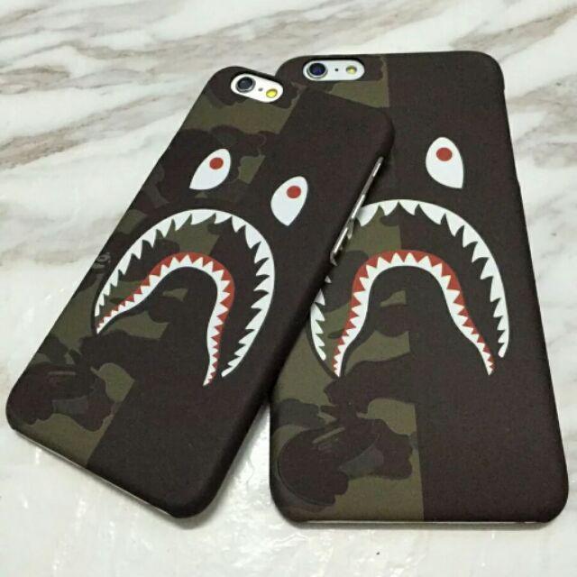 潮牌BAPE 安逸猿鲨鱼迷彩iphone7 7PLUS 6S PLUS 手機殼保護套