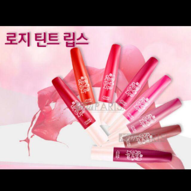 韓國ETUDE HOUSE 玫瑰花樣輕柔綻放點點咬唇彩Rosy tint Lips
