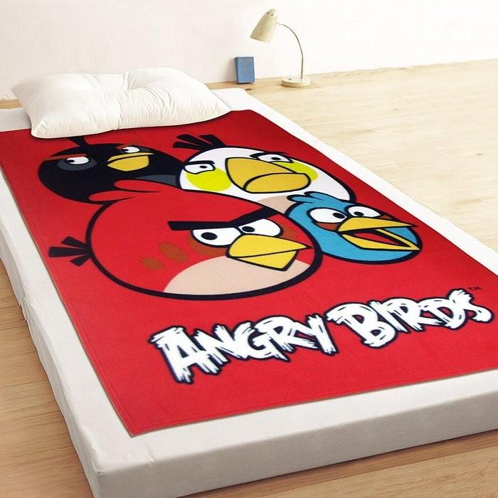 ~Luna Vita ~Angry Birds 憤怒鳥飛鳥聚聚樂刷毛毯