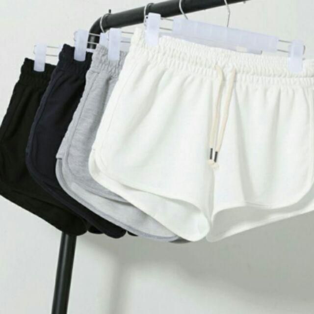 換季 純棉薄款 短褲女夏款跑步熱褲寬鬆休閒睡褲