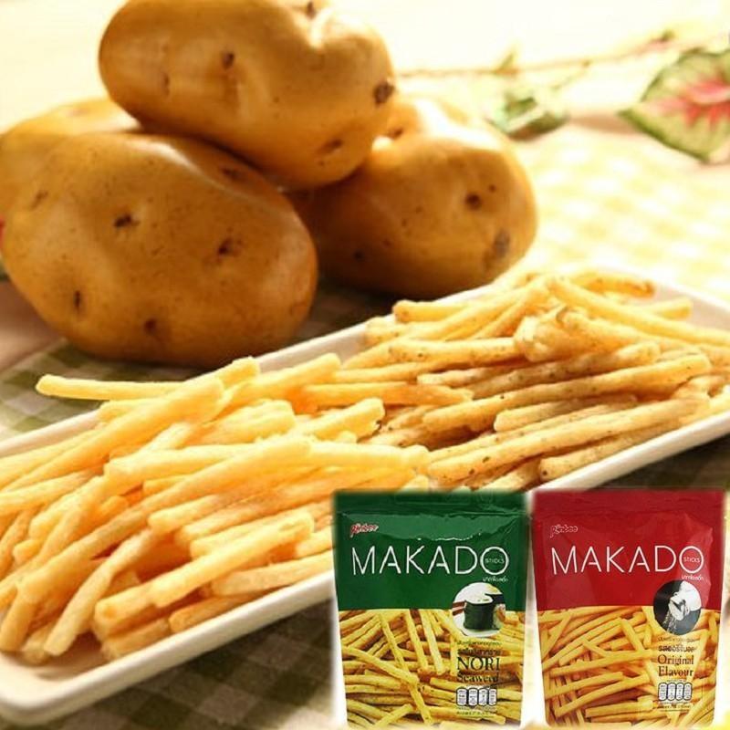宅配泰國~MAKADO ~麥卡多薯條27g 6 包入240 元鹽味海苔味