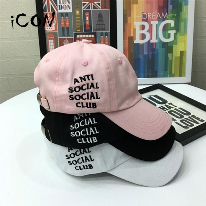 icon 爆款anti social social club 棒球帽男帽女帽戶外印花嘻哈帽