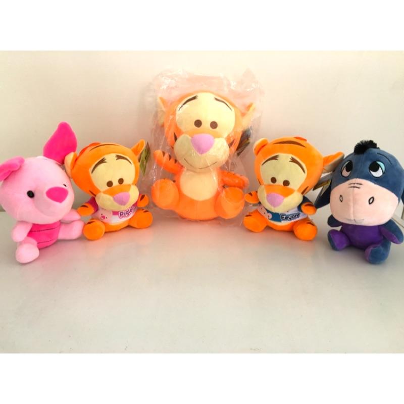 迪士尼跳跳虎小豬驢子小熊維尼玩偶娃娃玩具公仔