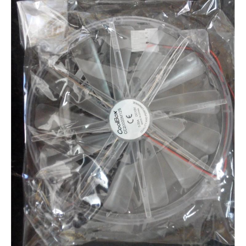 電腦機殼側板系統散熱用20CM 透明大風扇4P 電源接頭