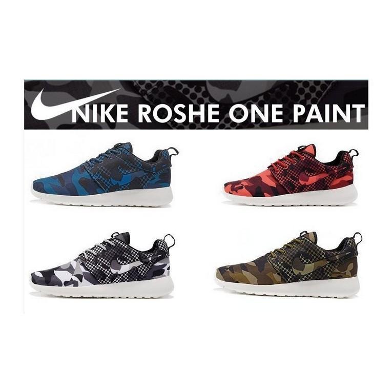 Nike Roshe One Print 迷彩Roshe Run 超輕量慢跑鞋休閒鞋情侶鞋