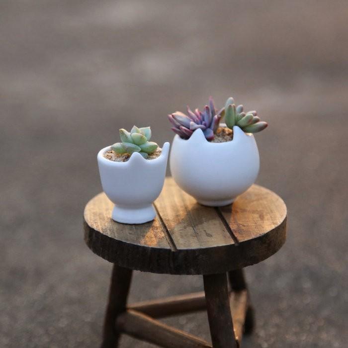 追花~原木小桌子凳子擺飾~裝飾擺件迷你拍攝道具櫥窗裝飾