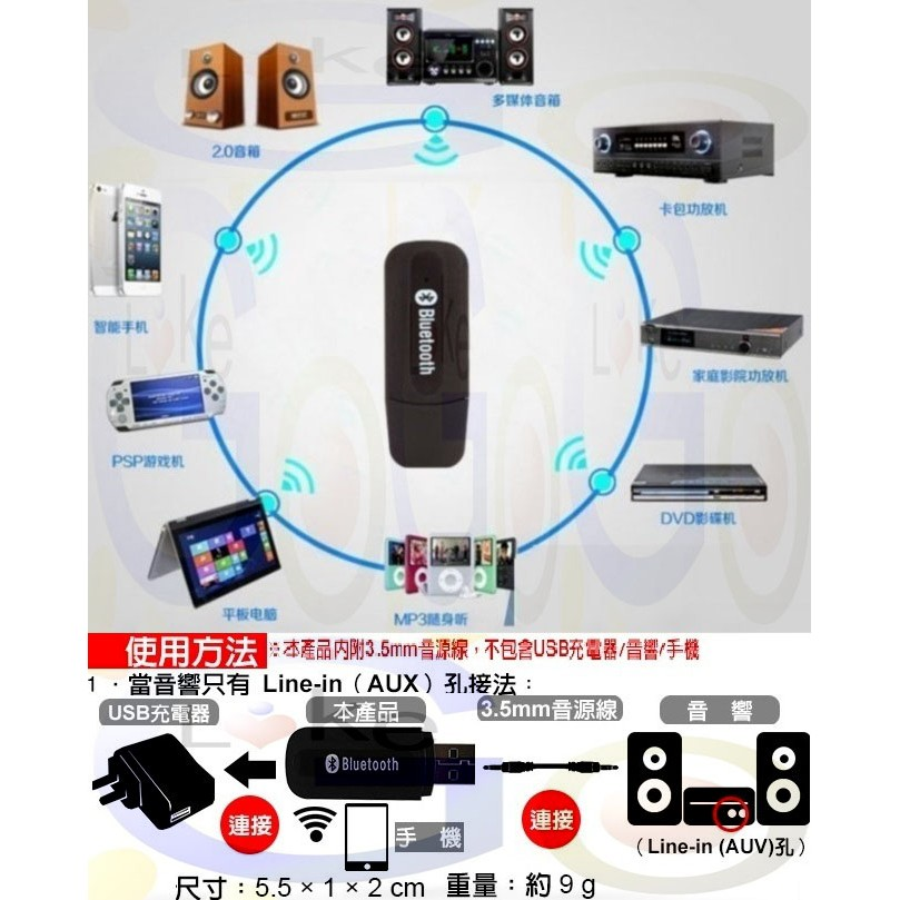 購滿意破盤3 5mm AUX 4 0 藍芽音樂音源無線音頻接收器藍芽音樂音源無線音頻發射器