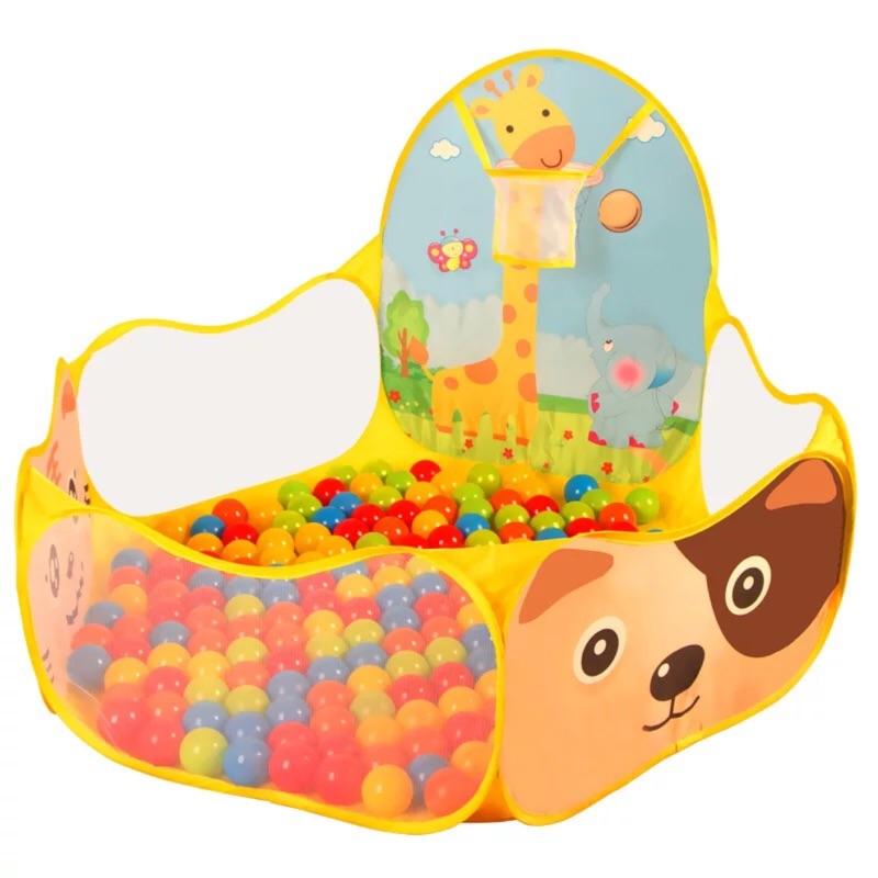 ~ 款~1 2m 50 顆球~卡通球池兒童帳篷海洋球池遊戲屋折疊室內親子玩具海洋球投籃球池