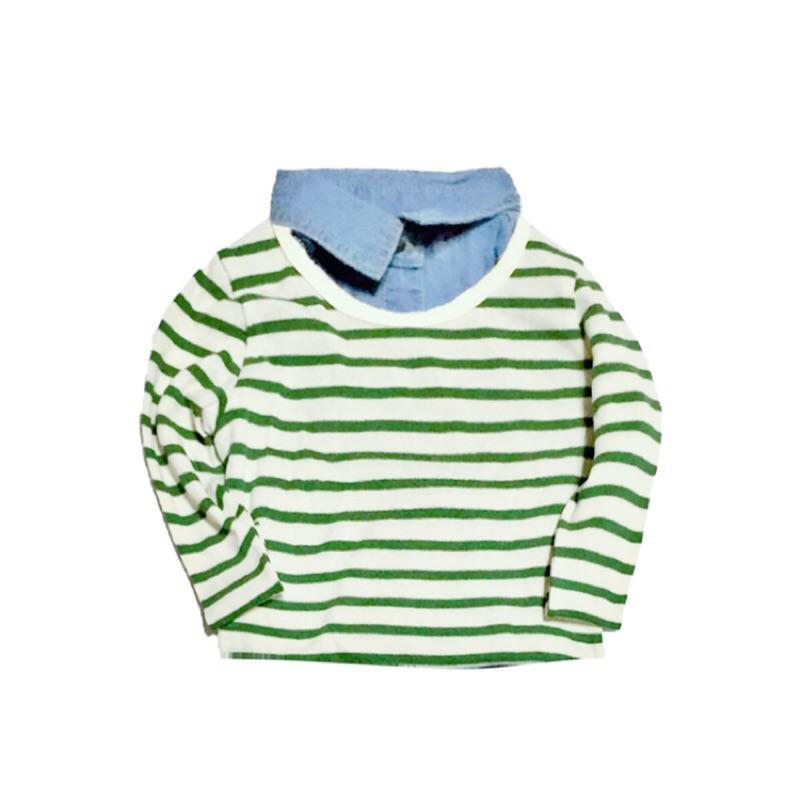 80 100cm 寶寶條紋針織衫