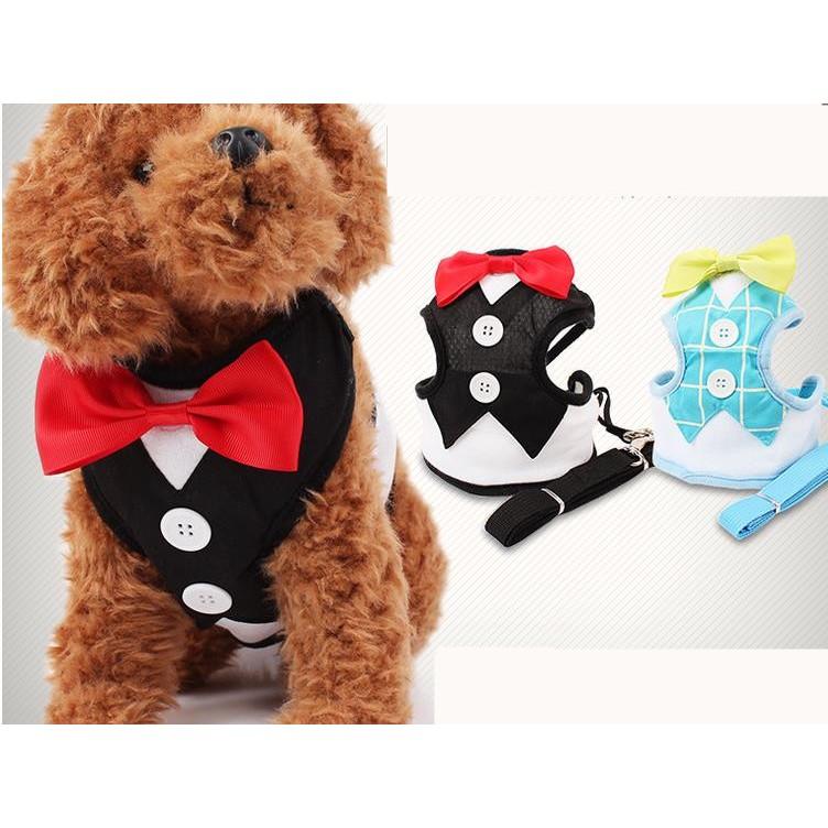 寵物超帥氣禮服西服 背帶牽引繩套裝貓狗用品