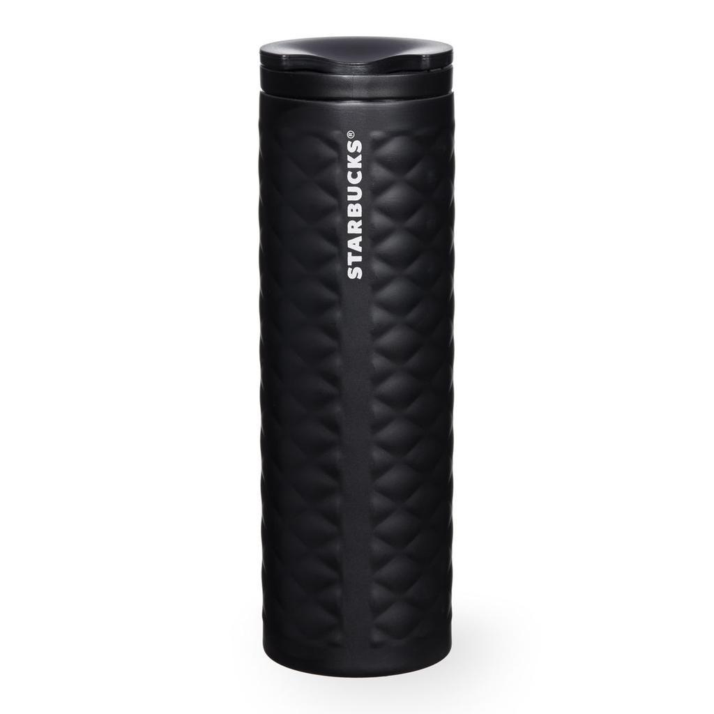 美國星巴克黑色絎縫藝術風格不鏽鋼隨身杯不鏽鋼杯保溫杯保溫瓶杯子咖啡杯陶瓷杯Starbuck