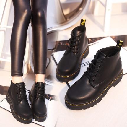 馬丁靴馬丁鞋日系復古圓頭綁帶皮鞋休閒鞋