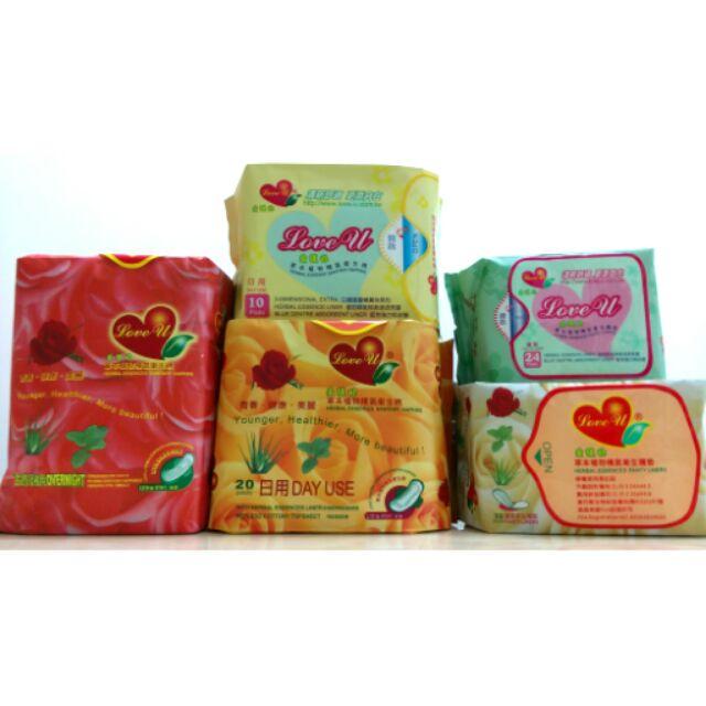 愛護妳衛生棉、護墊涼感衛生棉,草本植物精氣衛生棉,用過都說讚!