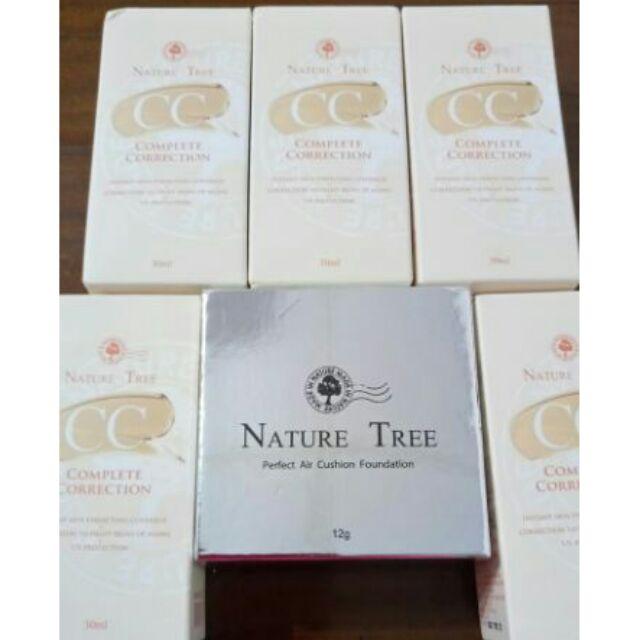 新鮮 貨正品nature tree cc 白皙無暇柔光輕透CC 霜30ml 完美無瑕氣墊粉
