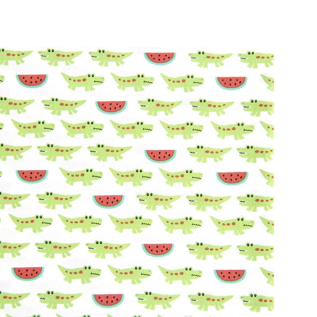 追加韓國布『西瓜鱷魚』純棉印花布 布手作拼布【The Cozy 樂可】