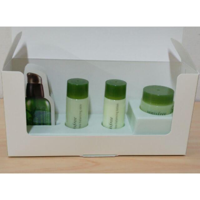 innisfree 綠茶水平衡護膚組綠茶體驗組旅行組含綠茶籽保濕精華、綠茶水平衡調理液、乳
