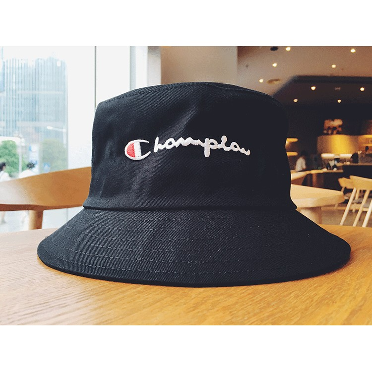 朝牌冠軍男女款黑白情侶漁夫帽可折疊海灘遮陽帽