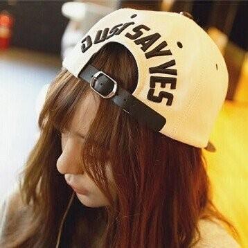 韓國 豹紋皮帶扣精緻調整立體繡字棒球帽平沿帽嘻哈帽子K366