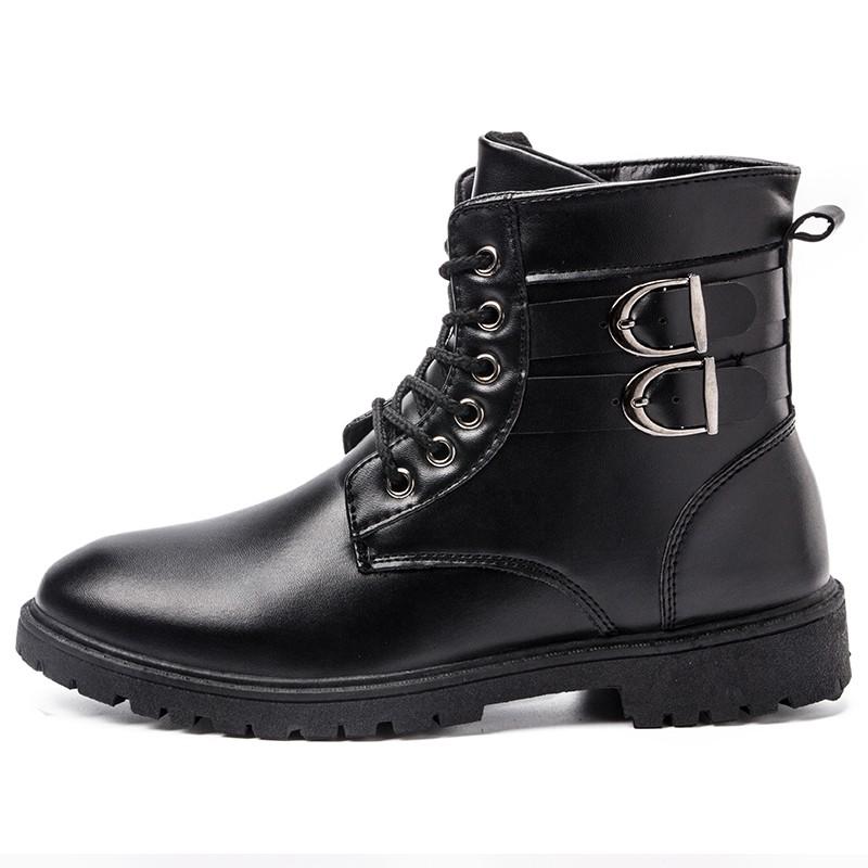 秋 男士馬丁靴男短靴潮流男靴英倫高幫鞋圓頭中筒復古靴子