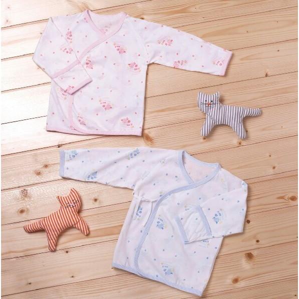 製吸溼排汗薄新生兒肚衣居家服寶寶睡衣上衣護手反摺、綁帶3466