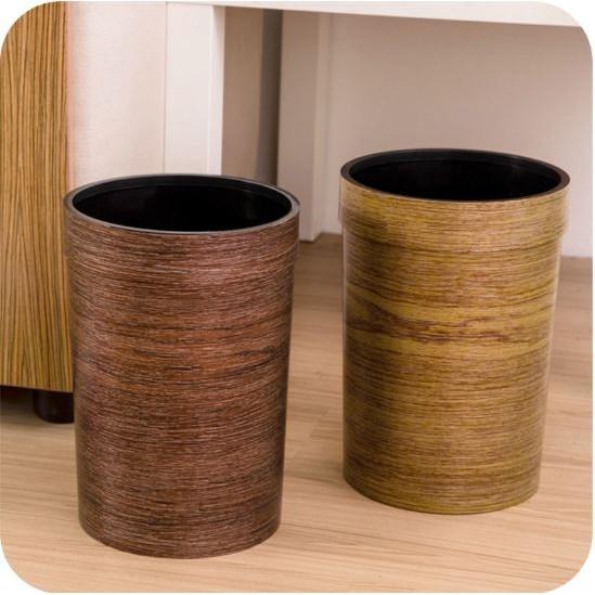~MIMI SHOP ~~簡約歐式仿真原木垃圾桶~簡約無蓋垃圾桶復古垃圾桶歐式風格復古風垃