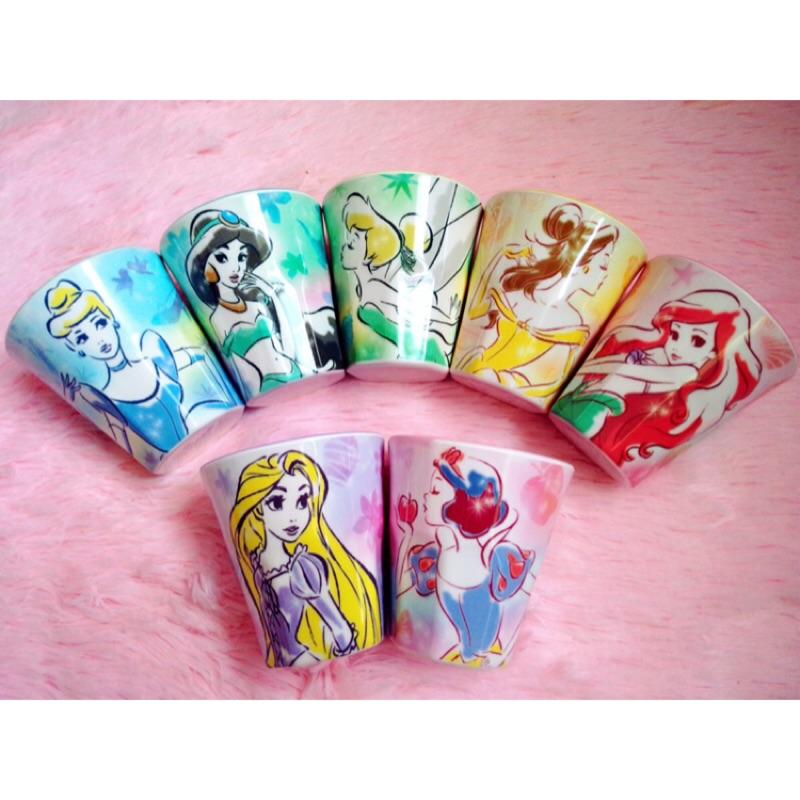 迪士尼特寫系列白雪公主美人魚愛麗絲長髮公主灰姑娘水杯杯子果汁杯漱口杯