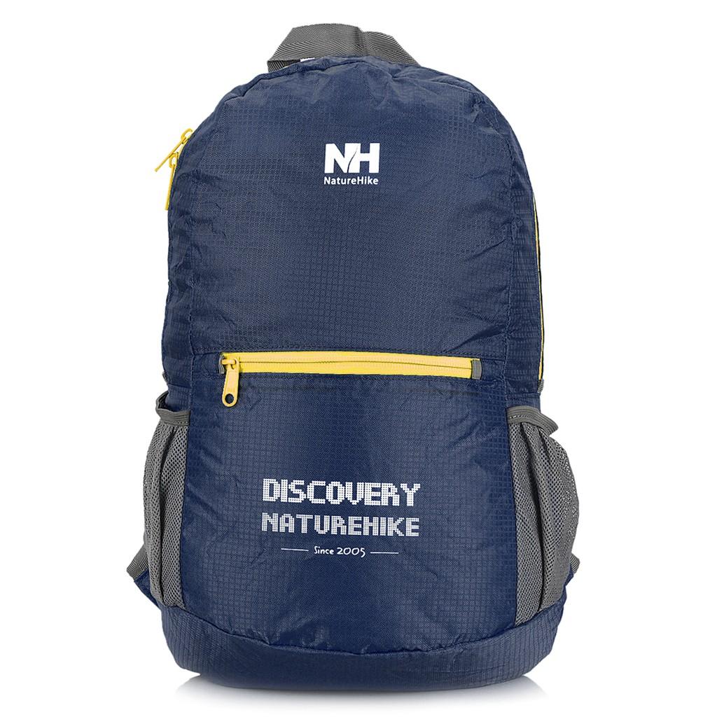NatureHike NH 戶外野營徒步旅行背包藏青色折疊背包雙肩可折疊包登山包