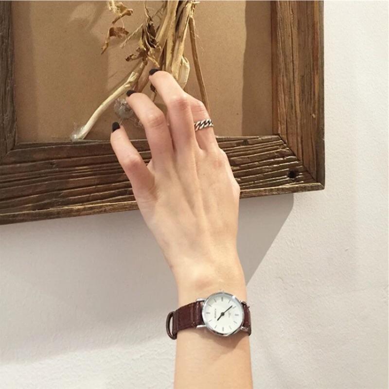 特惠復古百搭圓形盤手錶女指針簡約圓盤腕錶手錶腕錶女手錶手錶女簡約