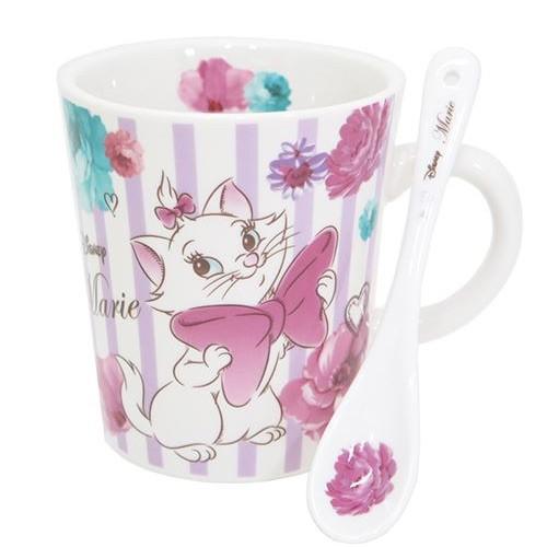 含稅 迪士尼Disney 瑪麗貓Marie 陶瓷杯匙組馬克杯300ml 咖啡杯水杯杯子生日
