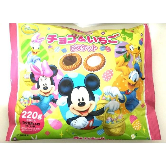 爆買  Bourbon 北 迪士尼DISNEY 綜合餅乾巧克力草莓220g 餅乾零食糖果