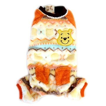 Pet Paradise Disney 橘色口袋可愛維尼連身褲4S 3S DSS SS D