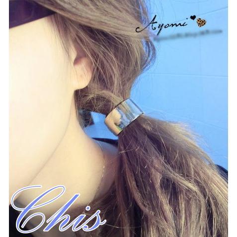 Chis Store ~韓飾 ~韓國 金屬全框髮圈髮束圓球鉚釘豹紋素色兔子白色情人節約會天
