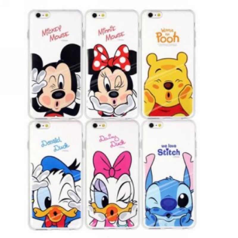 迪士尼嘴貼玻璃手機殼軟殼iPhone 6 6S PLUS 維尼米奇米妮唐老鴨黛西史迪奇