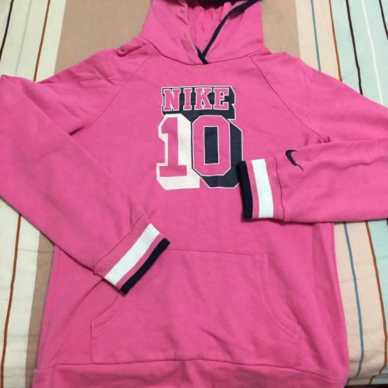 ~正品~粉紅色Nike 童版長袖XL 號連帽T (女版S M 號可穿)