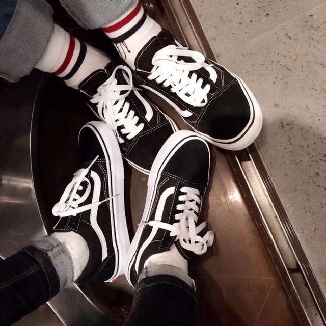 韓國正品 VANS 低幫os 情侶黑白 款潮鞋帆布鞋滑板鞋男鞋女鞋