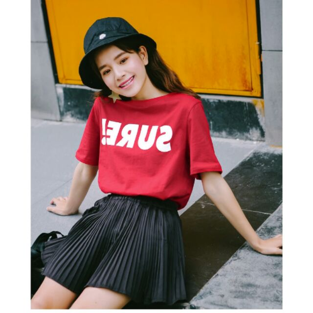 ☆ 不用等☆2017 夏裝 寬鬆字母女士上衣圓領短袖t 恤棉女裝