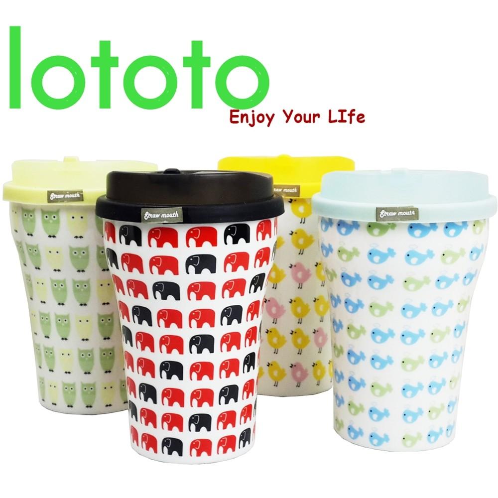 ~賣客王國~lototo 樂淘淘新骨瓷動物咖啡杯450ml 陶瓷杯/隨身杯/馬克杯