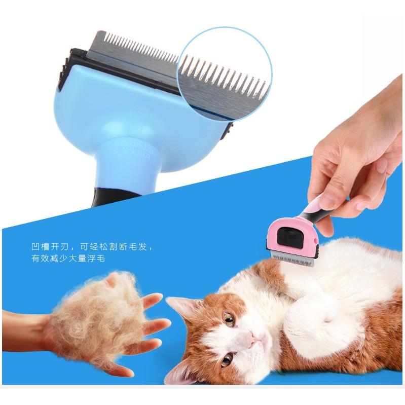 寵舖中壢寵物 ~DELE 寵物脫毛梳中220 ~去廢毛刀打薄梳寵物梳子刀頭可更換