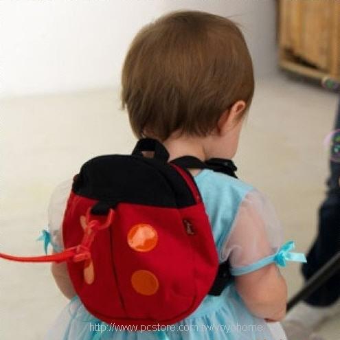 ~艾薇媽咪雜貨鋪~嬰兒防走失背包防走失包學步帶防走失繩瓢蟲包蝙蝠包小背包嬰兒背包幼童背包