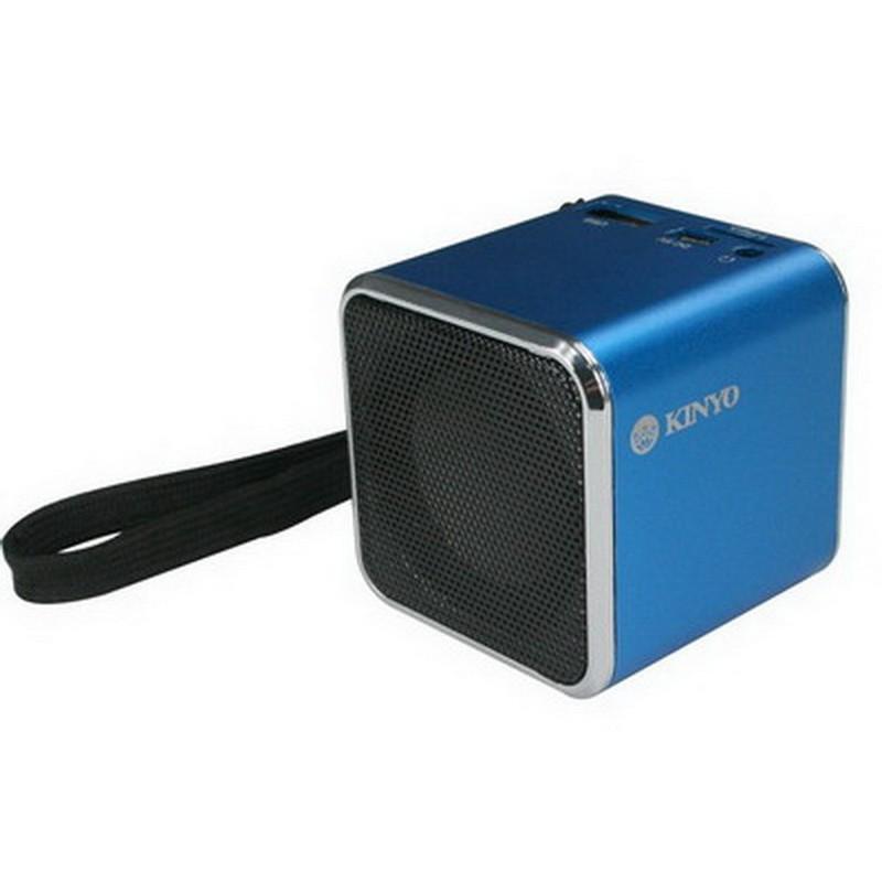 小港3C KINYO MPS 372 音樂盒MPS372 讀卡喇叭藍~附吊繩~MP3 插卡