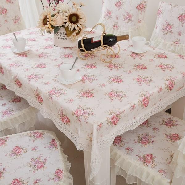 章魚球 米粉色小花桌巾桌布餐墊桌墊茶几布蓋布130 180 公分有三種尺寸~0502041