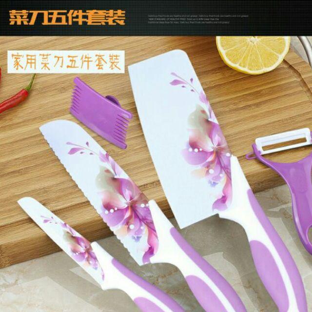 韓國陶瓷刀四件組陶瓷菜刀刀具熟食刀水果刀削皮刀廚具廚房不鏽鋼