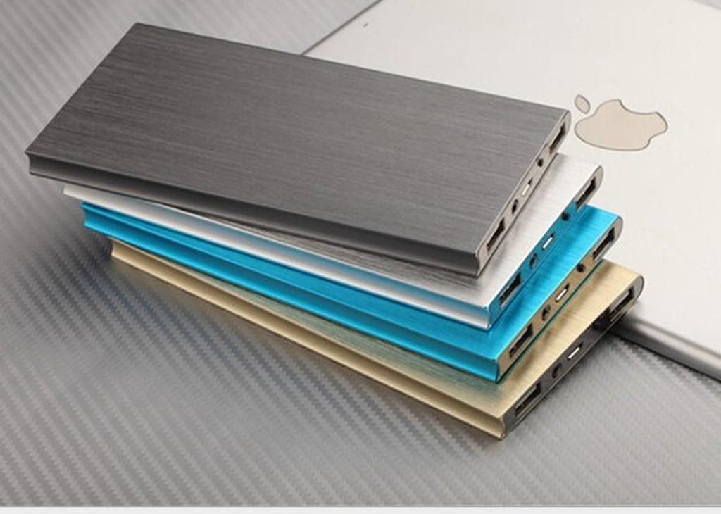 送收納袋超薄天書大容量20000mah 超薄鋁合金聚合物行動電源雙USB 孔2 1A 和1